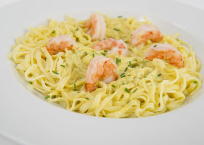 TAGLIATELLI SCAMPI-IN-CURRY